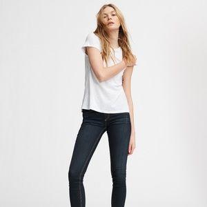 RAG & BONE White Pima Cotton T-Shirt Large